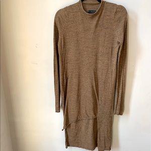 Zara Asymmetrical Turtleneck Knit Top